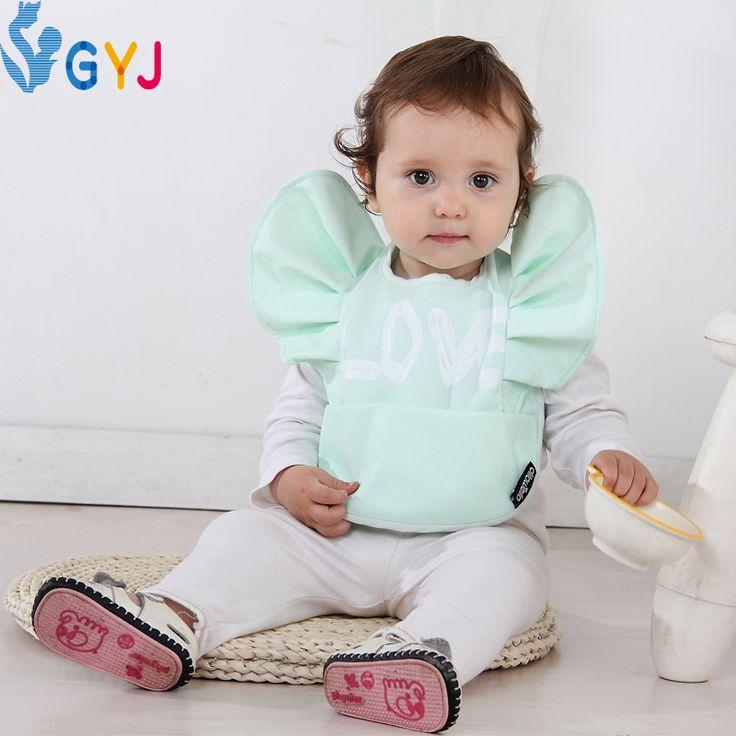 Ребенок нагрудник черный белый dot марка дети детские нагрудники фартук Triangel ребенок нагрудник с рукавами полотенце девушки парни нагрудники водонепроницаемый длинным рукавом