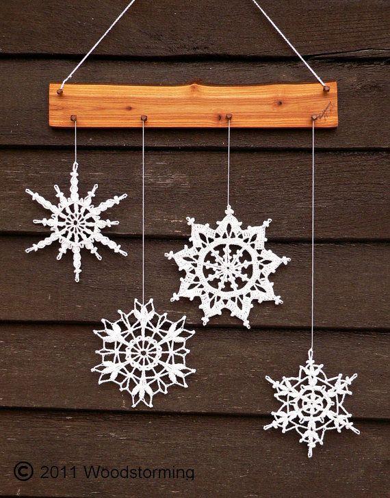 Decoración de los copos de nieve Navidad de por Woodstorming