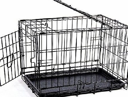 Home Discount Pet Cage With Tray, Folding Dog Puppy Animal