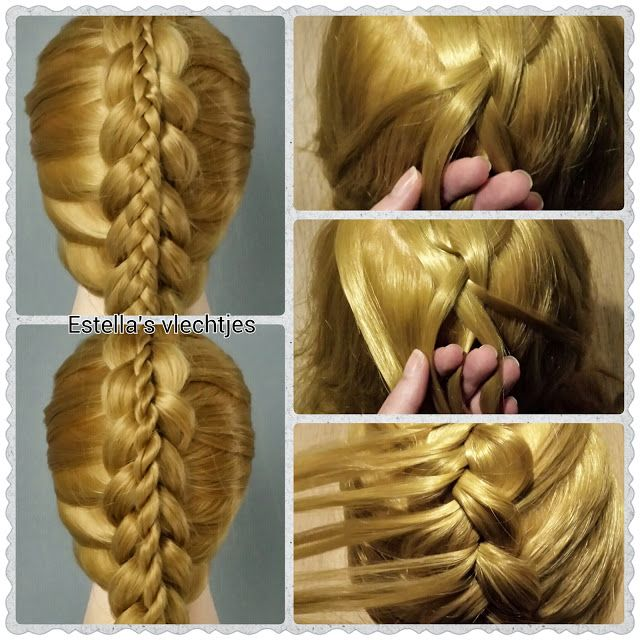 Dubbele vlecht how to braid hairstyle