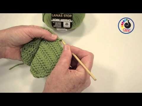 Aprende a tejer con LANAS STOP.  Punto cangrejo