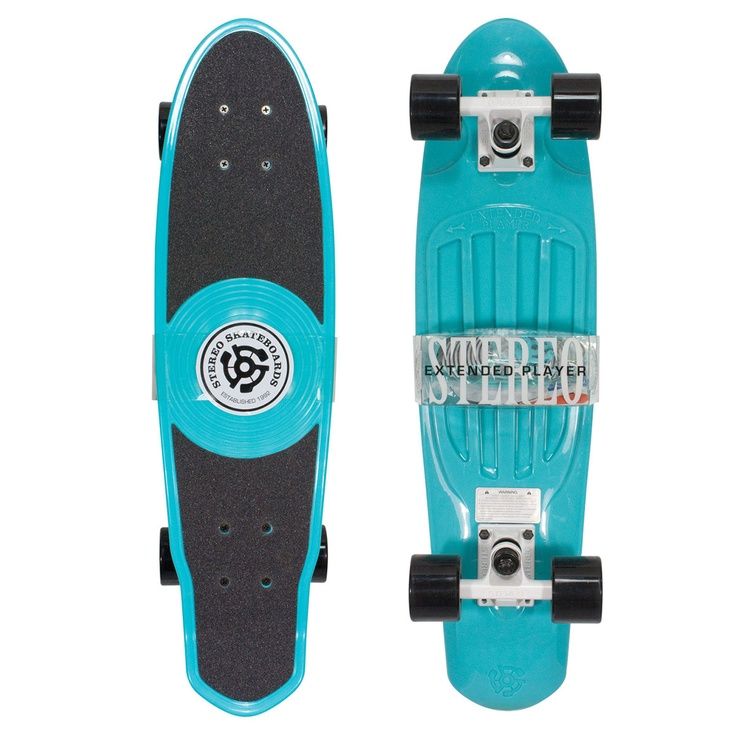 Stereo EP Vinyl Cruiser Aqua  by Stereo Skateboards. Mother of all wants.