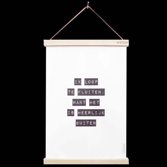 Zusss A3 Poster Ik Loop Te Fluiten  Description: a3 poster van papier ik loop t  Price: 7.95  Meer informatie  #woononline