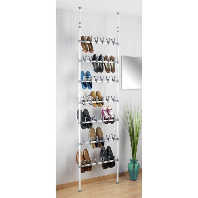 Range Chaussures A Poser Blanc 40 Paires Maximum H 100 Rangement Chaussures Rangement A Chaussures Etagere Chaussures