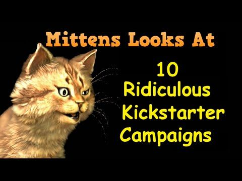 Mittens looks at 10 Ridiculous Kickstarter Campaigns.