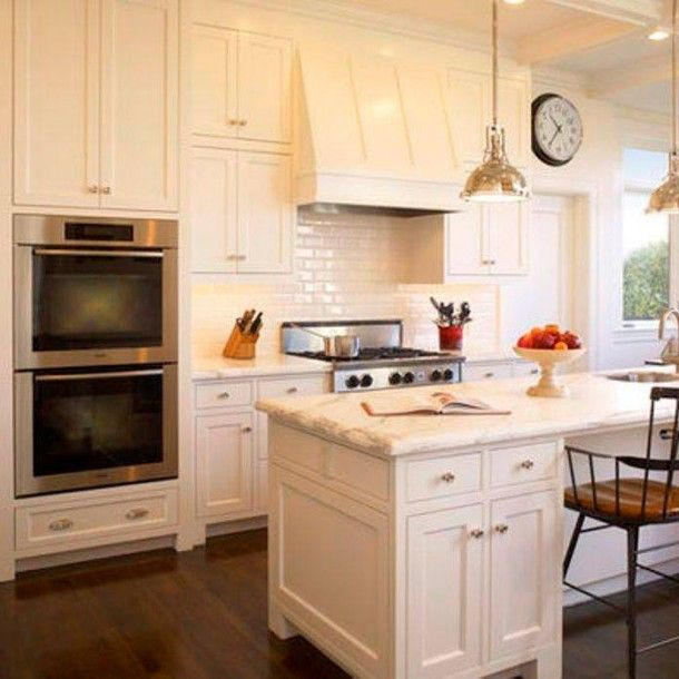 Best White Color Paint For Kitchen Cabinets: Kitchen With Dover White 6385 By Sherwin Williams