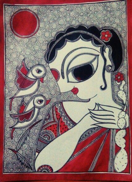 By Aparajita sharma Madhubani folk art Bihar, India