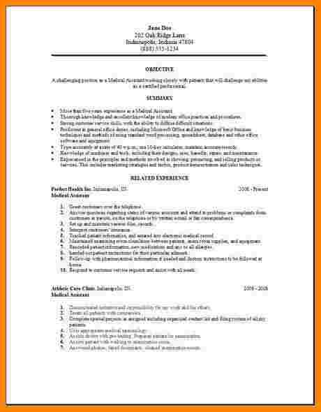 Medical Assistant Resumes Samplesdical Resume Administrative Sample Monster