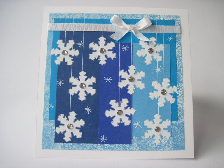 """Vánoční \""""mrazivé\"""" přání modré"""