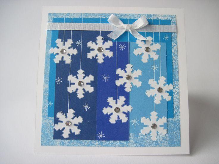 """Vánoční """"mrazivé"""" přání modré"""
