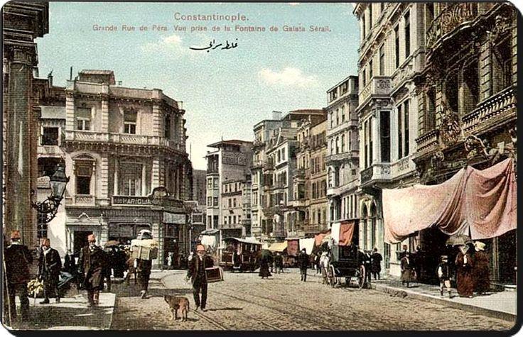 İstanbul _ Galatasaray_İstiklal caddesi - 1900'ler