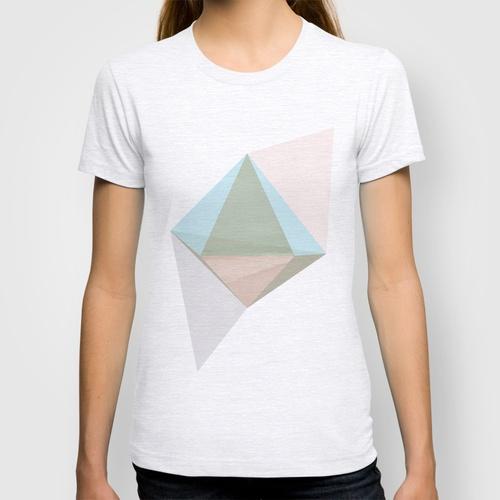 pentagonal dipyramid  by Natalie Nicklin    T-SHIRT / WOMENS FITTED TEE ASH GREY      T-SHIRT / WOMENS FITTED TEE ASH GREY
