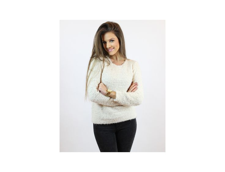 Casual Round-Neck Jumper - Jumpers and Cardigans - Famevogue  #jumpers #pulover #style #fashion #haine #trends