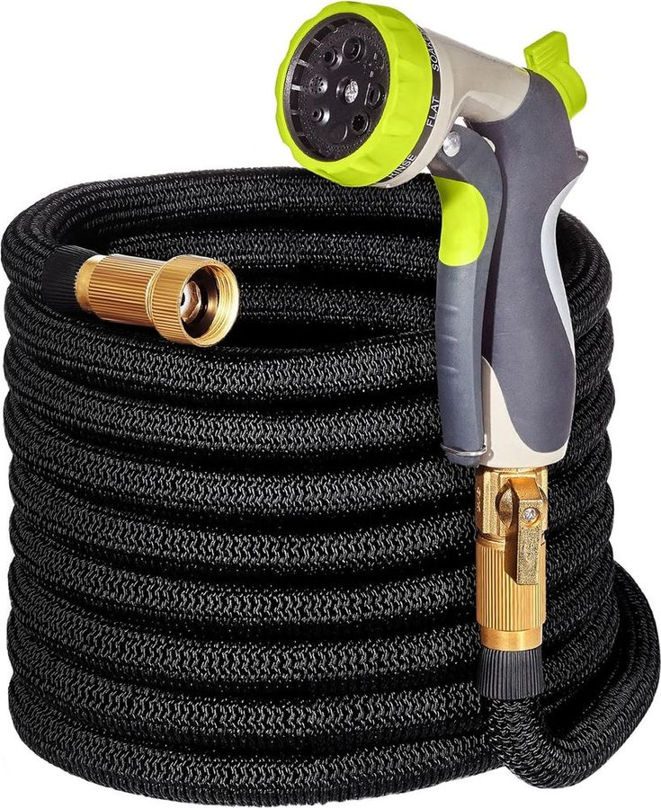 Expandable Water Hose with Double Latex Core for Garden Pool Outdoor Nozzle NEW  #ExpandableWaterHose