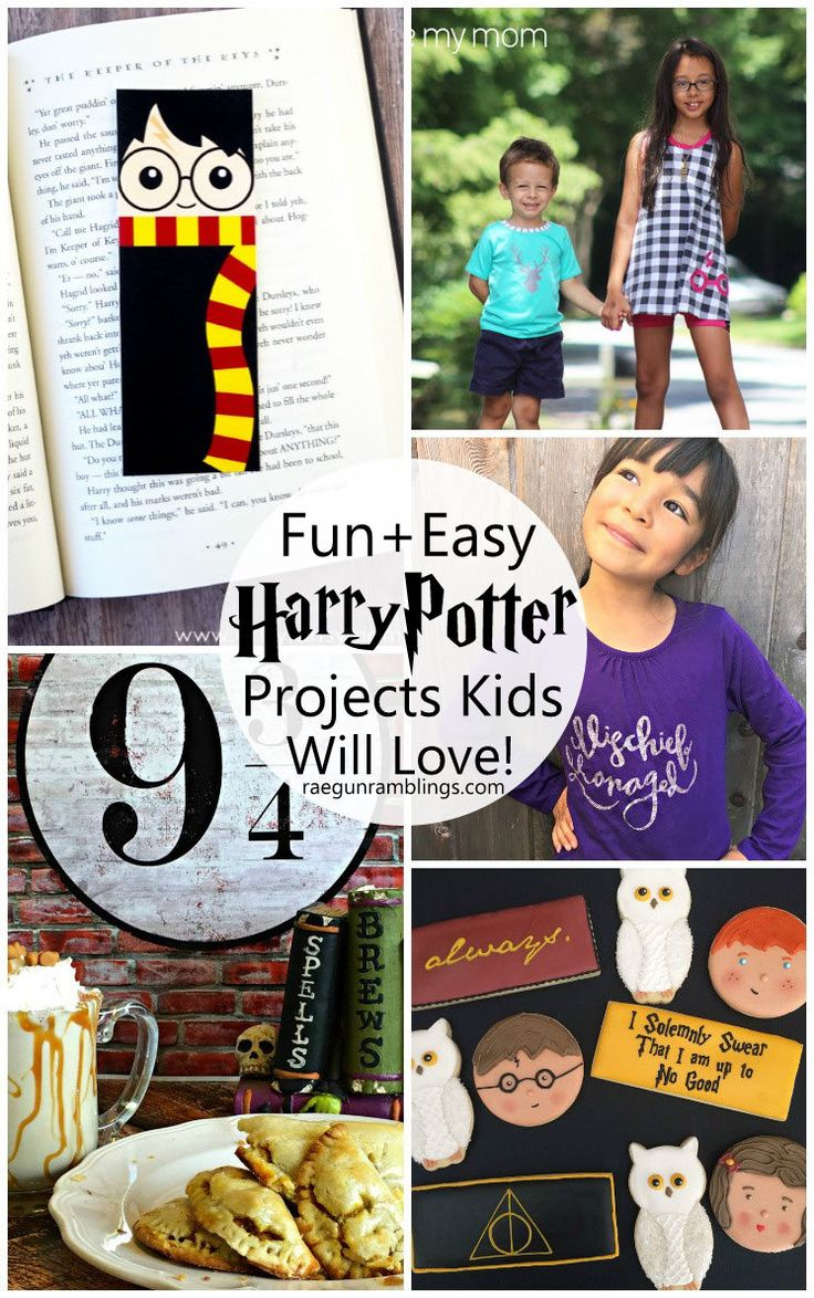 I want to make all these crafts and recipes inspired by Harry Potter Free tutorials