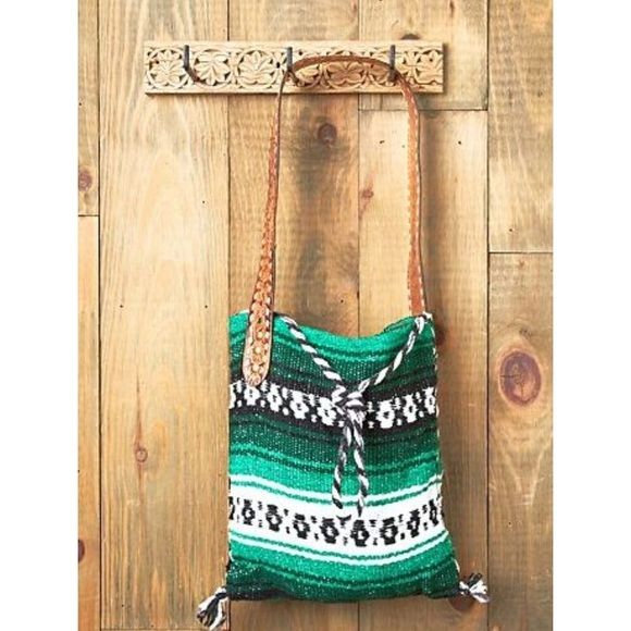 Mexican blanket/vintage belt bag Super cute and unique bag! Purchased through free people. Lightly used, still in great condition. Free People Bags Shoulder Bags