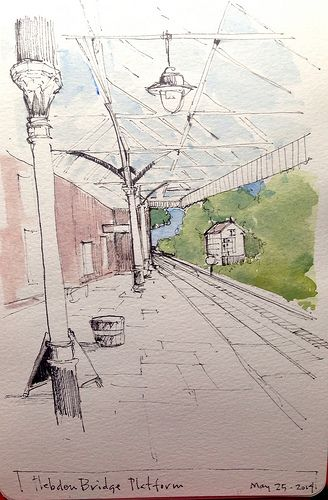 a quick sketch from our day out at Hebden Bridge...lost more sketching to come!