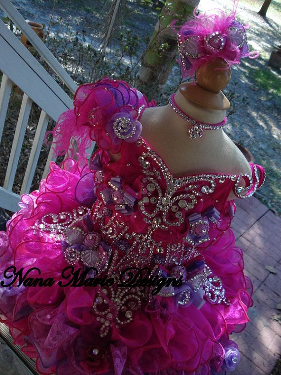 National Glitz Pageant Dress Custom Order by Nana Marie Designs on Etsy, $1,175.00