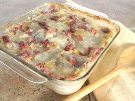 Recette de casserole de jambon et de pommes de terre