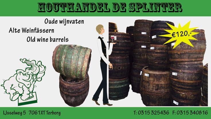Antieke wijnvaten uit eikenhout