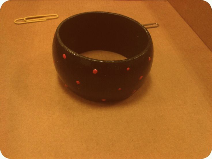 #vintage #handmade #artepovera #bracelet #wood #polkadots #retro