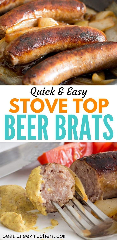 Easy stovetop beer brats in 2020 beer brats recipe stove