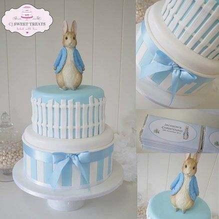 Peter Rabbit Christening Cake Cake by cjsweettreats