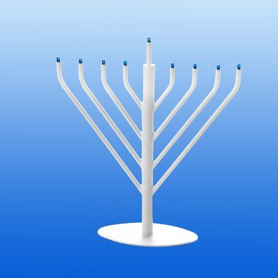 The Holiday Aisle Electric Menorah Color: White