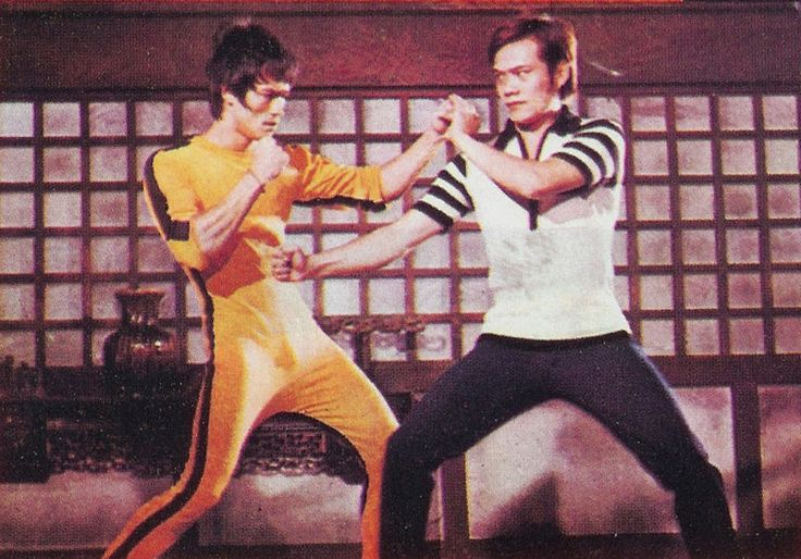 """Bruce Lee and James Tien Behind the Scenes of """" Game Of Death """""""