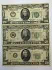"""❧"""" *LOT(3) 1928 #1934 1950  $20 #GREEN SEAL Federal Reserve #Notes Great value http://ebay.to/2gzaIMy"""