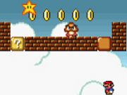 Super Mario Flash offers a traditional and cult game Mario. Super Mario Flash! Rediscover the traditional levels of Mario games by finding a game respecting the Mario universe the first hours of its creation. On a graphic background to the Nintendo 64, enjoy the gameplay! Play as Mario and his brother Luigi to defeat your numerous enemies ... To play, nothing more simple, move using your arrow keys while raking map to conquer many gold coins and bonus present on different levels of this game…