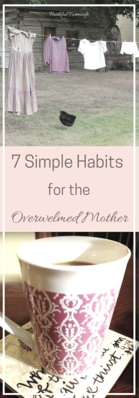 7 Simple Habits for the Overwhelmed Mother
