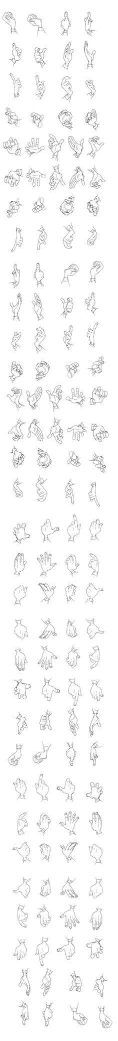 """Hogarth"" Hands Reference Sheet The Iron Giant | © Warner Bros. Animation* • Blog/Website | (www.warnerbros.com):"