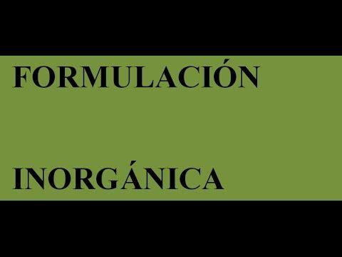 Curso formulación y nomenclatura inorgánica
