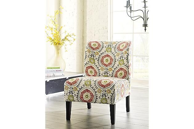 Desk chair with casters? Floral Honnally Accent Chair View