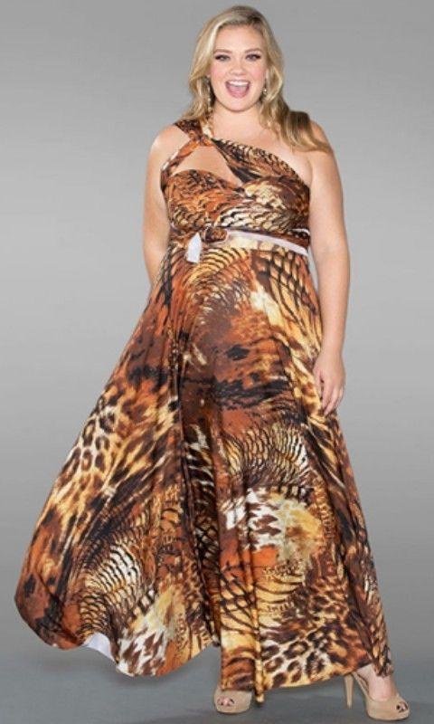 531d56e7c656e Sexy SWAK Designs Plus Eternity Wrap Party Maxi Dress Wild Animal Desert  Sky  fashion  clothing  shoes  accessories  womensclothing  dresses
