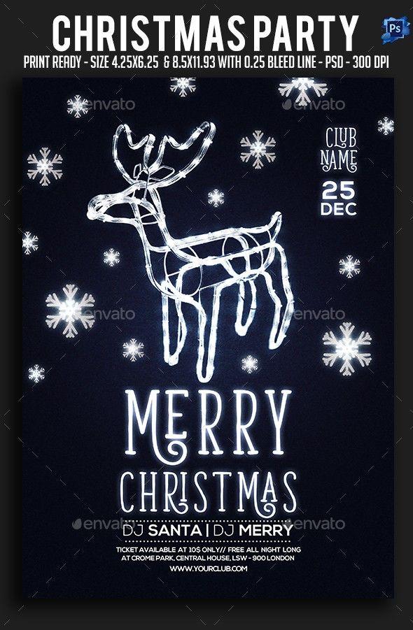 2018 party, bash, christmas card, christmas event, christmas flyer