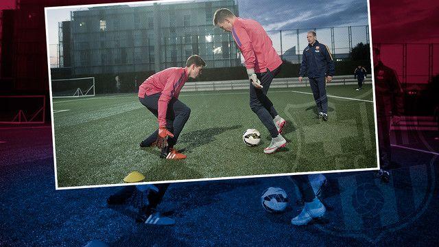 A look into La Masia goalkeeper training