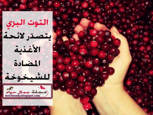 التوت البري يتصد ر لائحة الأغذية المضادة للشيخوخة Cranberry Beauty Magazine Beauty Red Peppercorn
