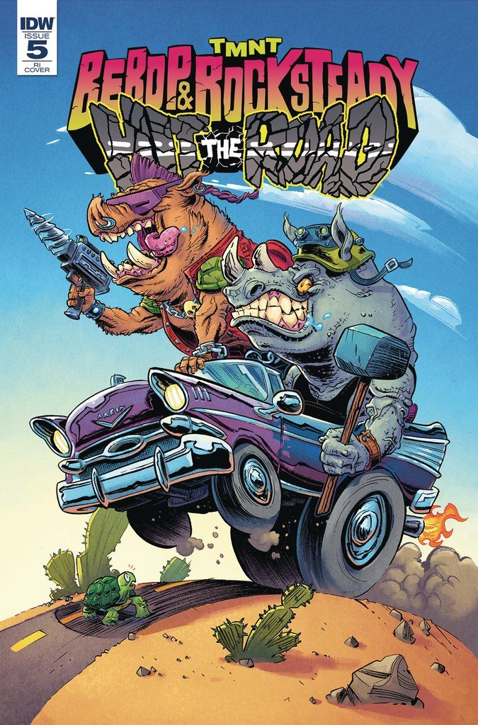 TMNT BEBOP ROCKSTEADY HIT THE ROAD #5 (OF 5) 10 COPY INCV CO