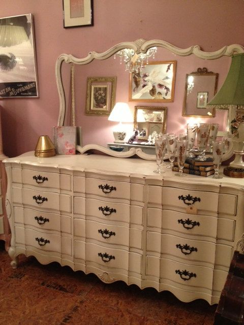 Shabby Chic Cottage Painted Long Dresser With Mirror Home Of Mine