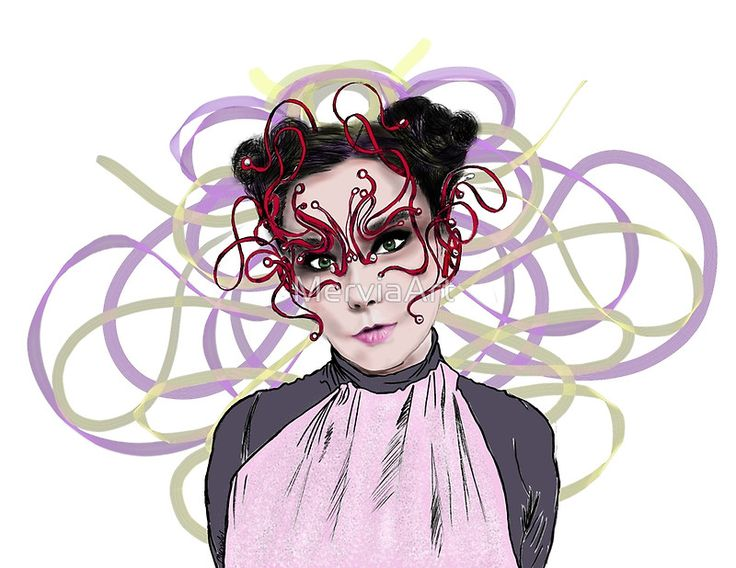 Another Björk artwork by MerviaArt. Design inspired from photoshoot of Crack Magazine. This time I used digital technics. Hope you enjoy! If you have any request feel free to contact me! MerviaArt • Buy this artwork on apparel, stickers, phone cases, and more.