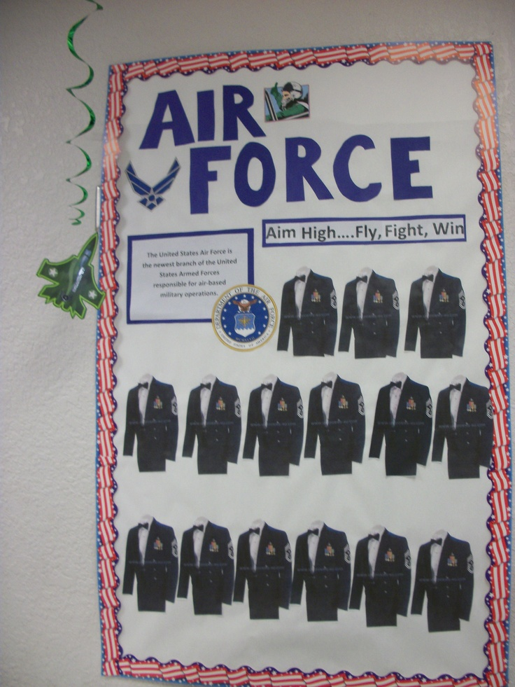Focus on the Air Force - students' head shot photos will be put on the uniforms.