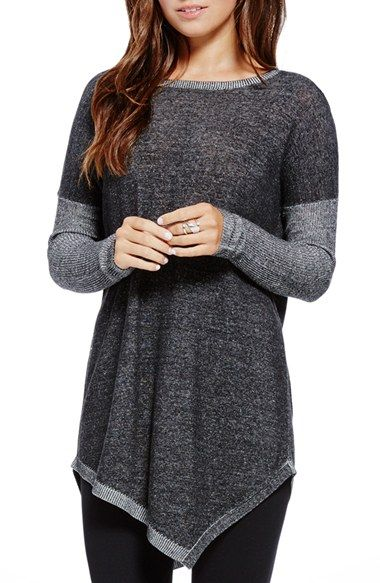 Two by Vince Camuto Plaited Asymmetrical Crewneck Pullover available at #Nordstrom
