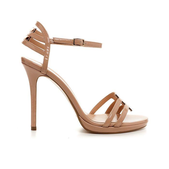 1008B12_NUDE PATENT www.mourtzi.com #sandals #nudes #bride #heels #mourtzi