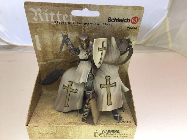 Schleich Ritter 70034 Mounted White Knight With Sword Chevalier #Schleich