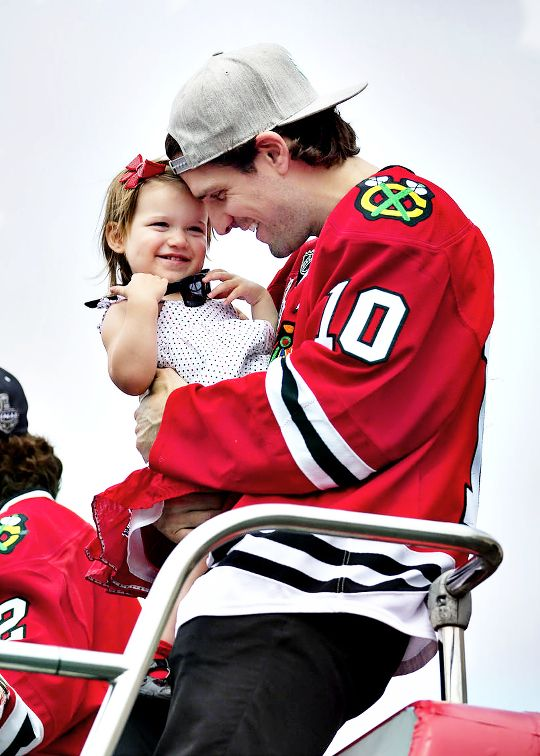 Patrick Sharp and his daughter.