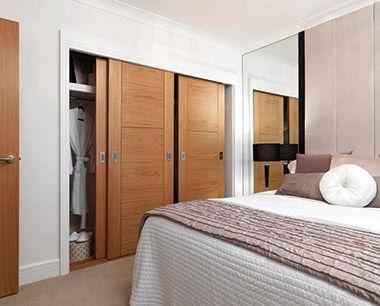 JB Kind Mistral Oak doors in a sliding wardrobe system #slidingdoors