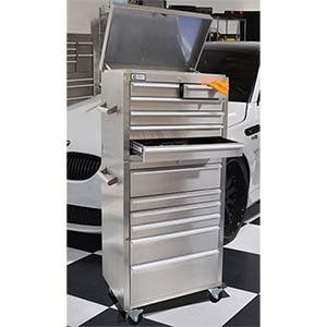 """Stainless Steel 27"""" Tool Chest. $799.99. Free shipping."""