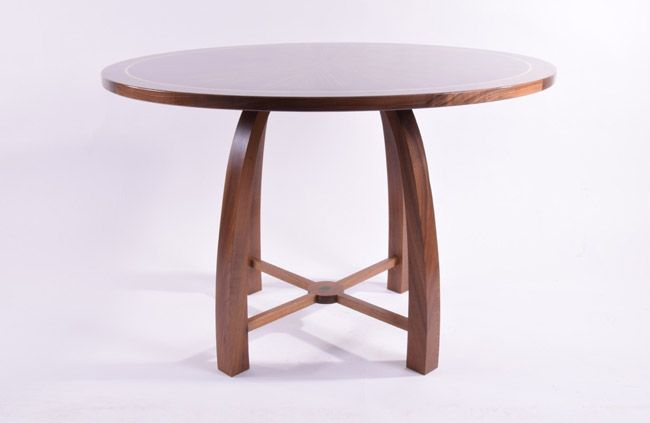 Cafe table made from macassar ebony with a  veneered top #furniture #bespoke